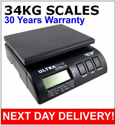Ultraship 75lb 34kg DIGITAL PARCEL POSTAL WEIGHTING SCALE